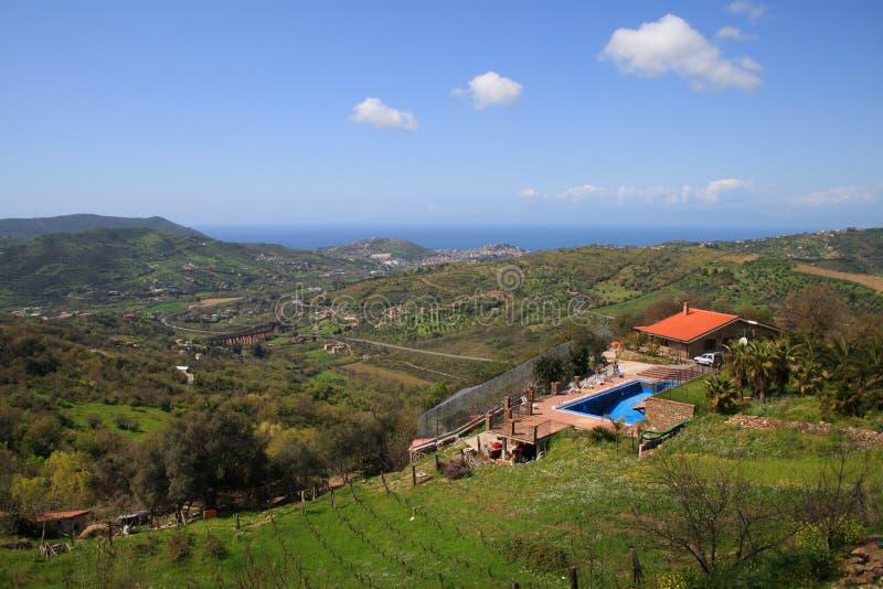 Italy-Cilento-Valley of Agropoli stock photography
