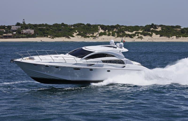 Italy, Circeo Bay (Rome), luxury yacht royalty free stock photo