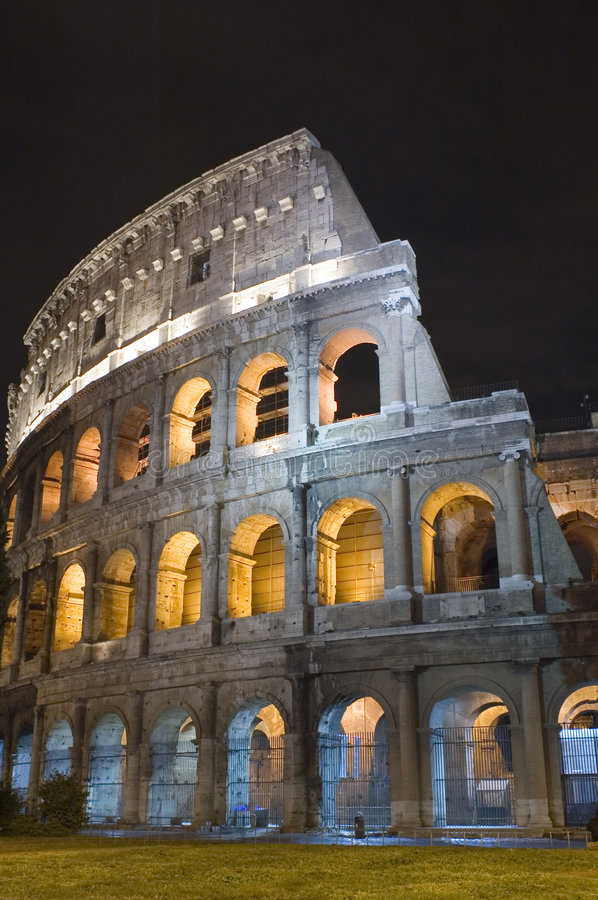 Italy Coliseum in the night stock photo