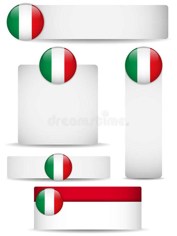 Italy Country Set Of Banners Royalty Free Stock Image