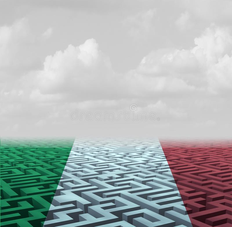 Italy Crisis Concept vector illustration