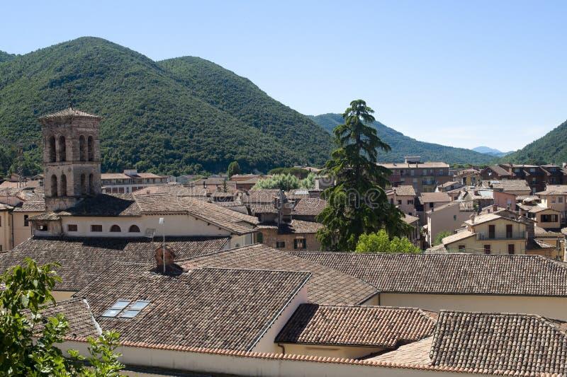 italy dachy Lazio Rieti zdjęcia stock