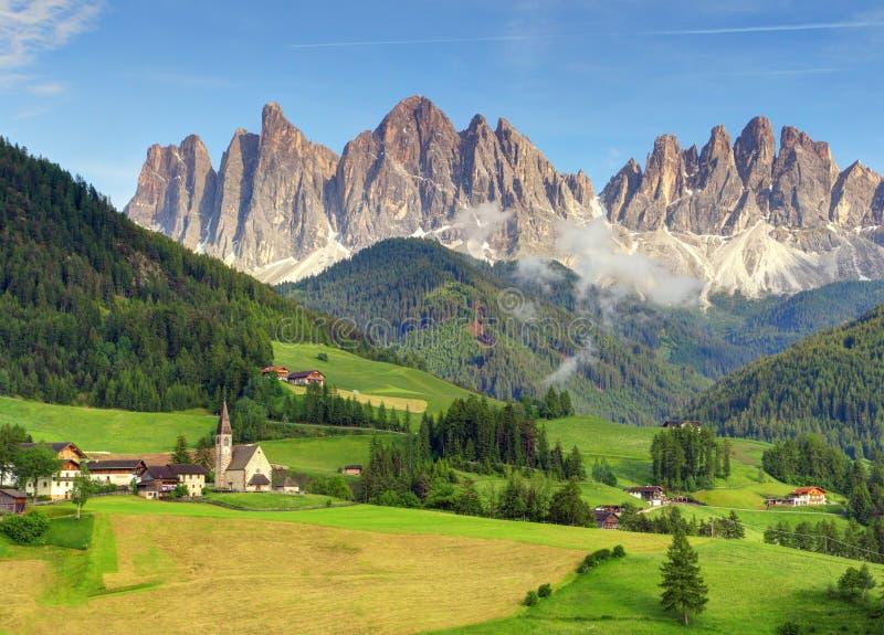 Italy dolomites - Val di Funes.  royalty free stock photos