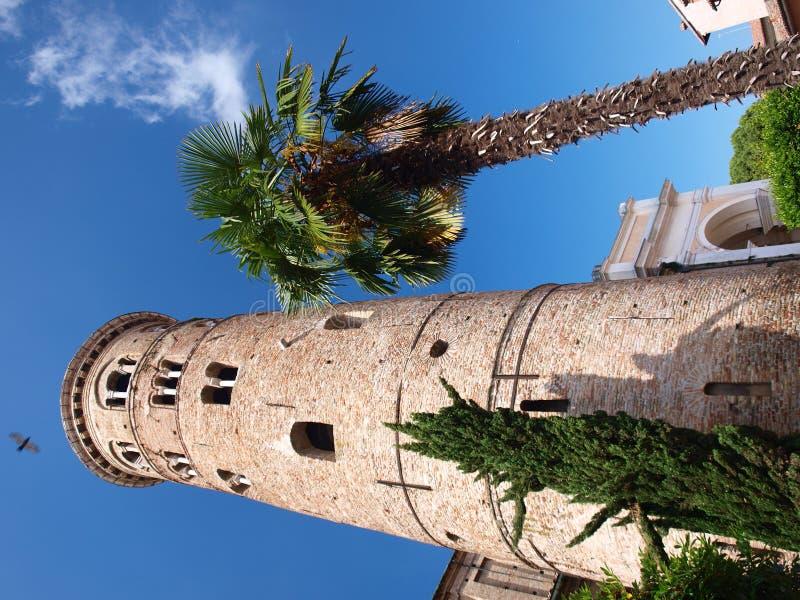 italy dzwonkowy katedralny wierza Ravenna zdjęcie stock