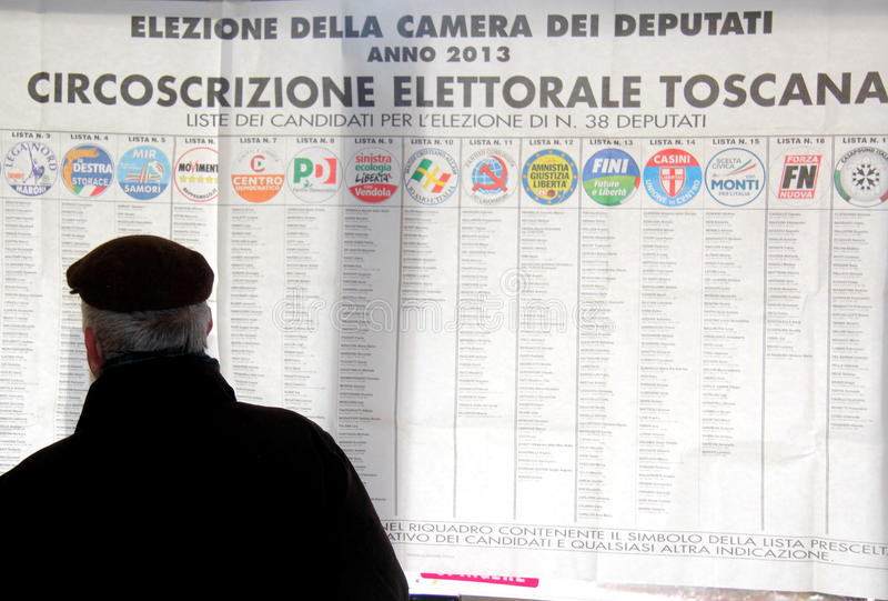 Italy elections ballots royalty free stock images