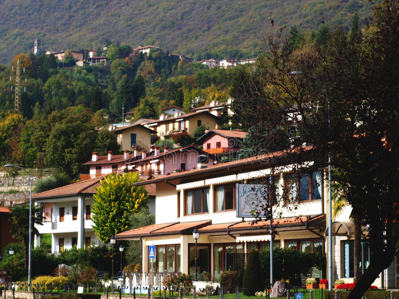 Italy Endine village royalty free stock images