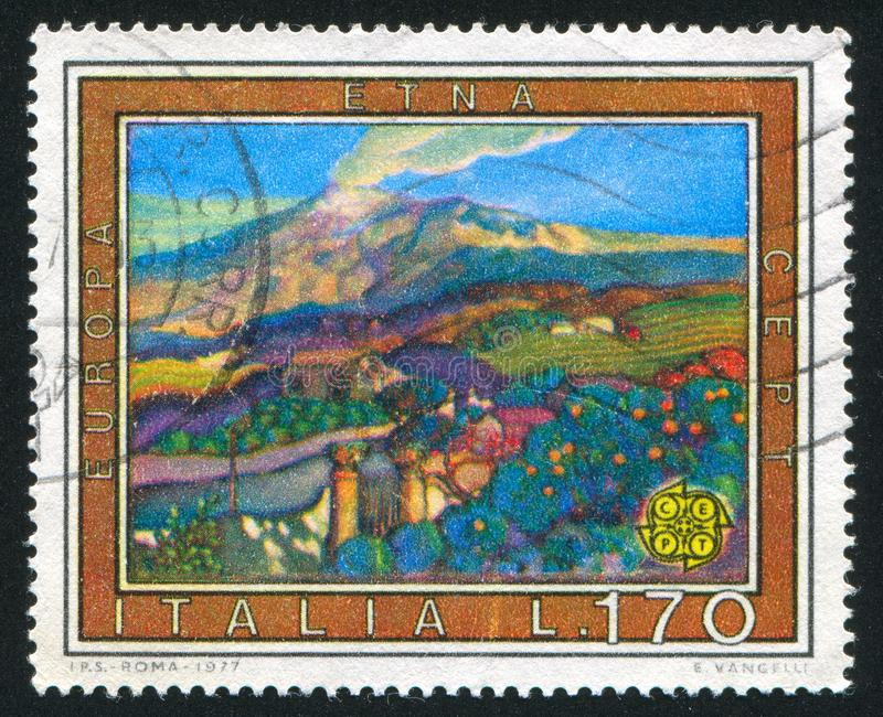 Italy Etna stock photo