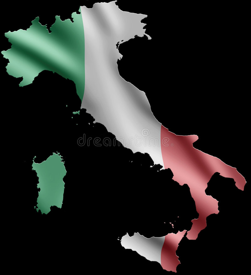 Italy and Flag royalty free illustration