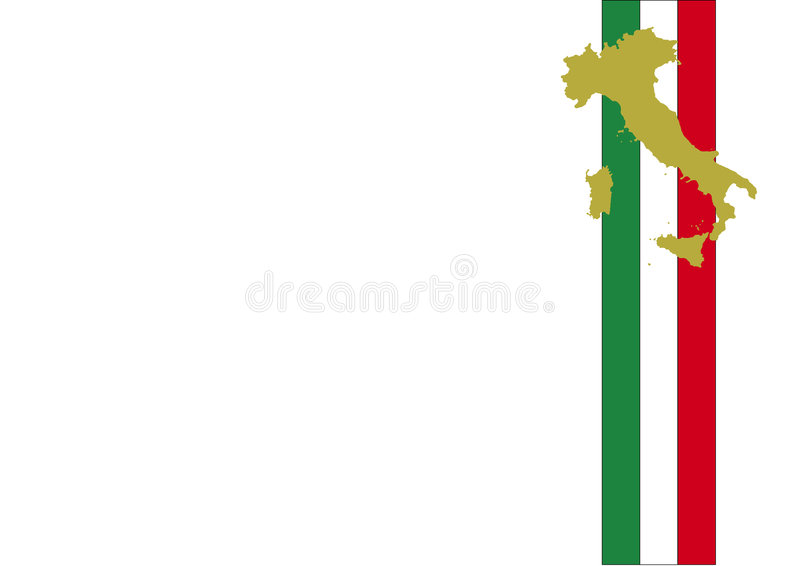 Italy flag background and map stock illustration