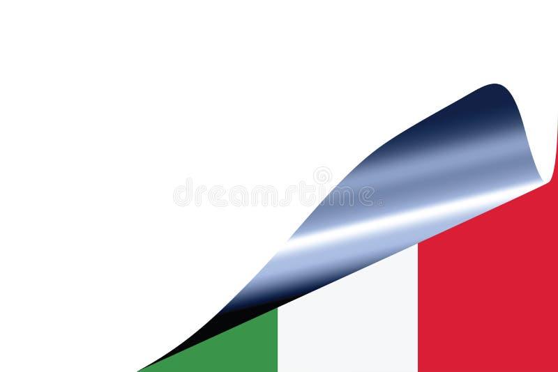 Italy flag on white vector illustration