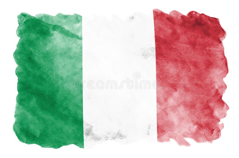 Italy flag is depicted in liquid watercolor style isolated on white background vector illustration