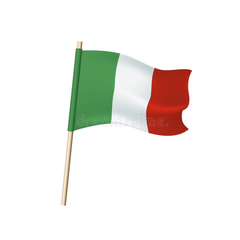 Italy flag on white background royalty free illustration