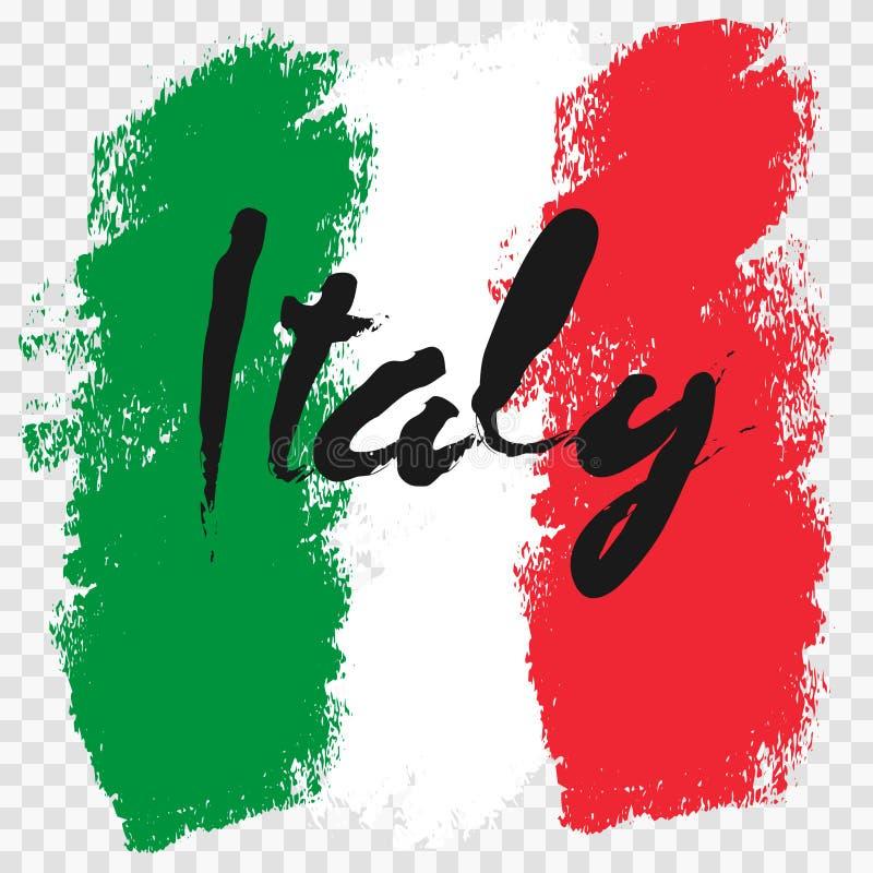 Italy flag grunge style stock image