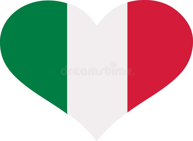 Italy flag heart stock illustration