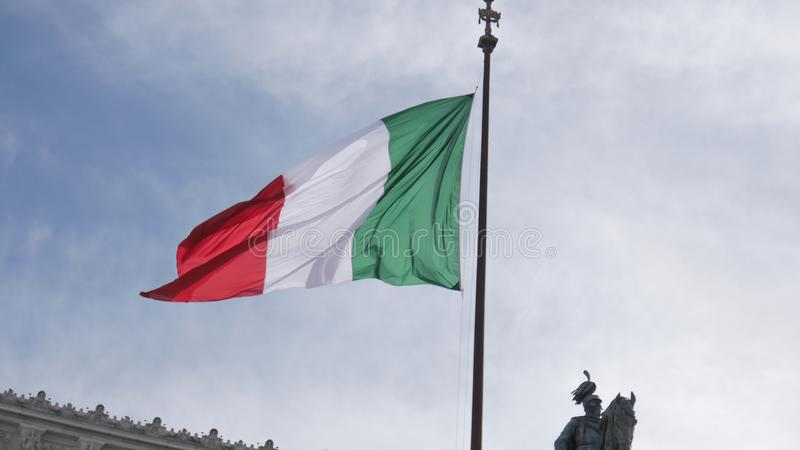 The Italy flag, Rome. The Italy flag in Rome royalty free stock photos