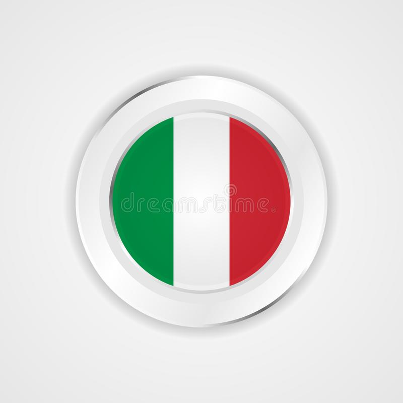 Italy flag in glossy  icon. royalty free illustration