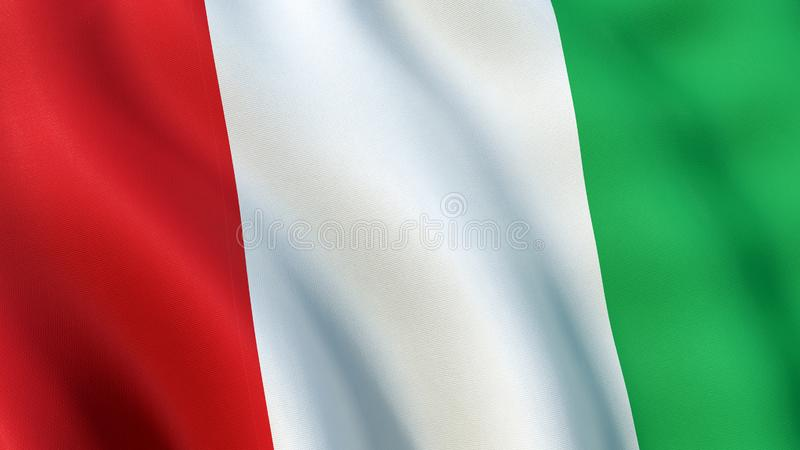 Italy Flag waving in the wind. Closeup of the Italian Tricolour Flag waving in the wind. Bandiera d`Italia, il Tricolore - three vertical bands coloured green vector illustration