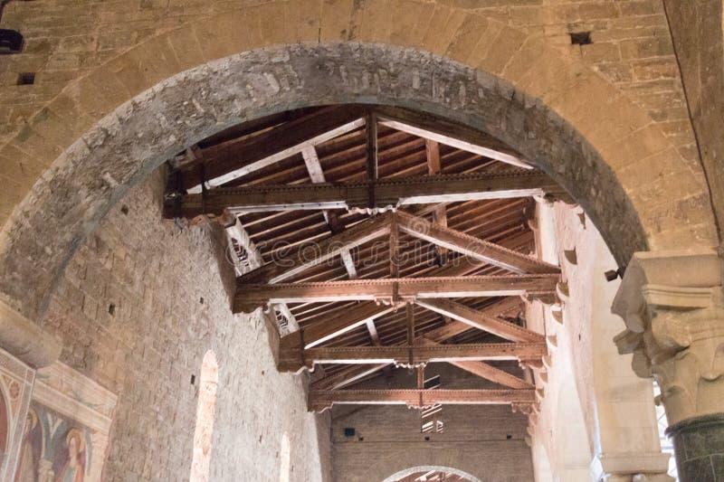 Ceiling of Basilica San Miniato al Monte, Florence, Tuscany, Italy stock photo