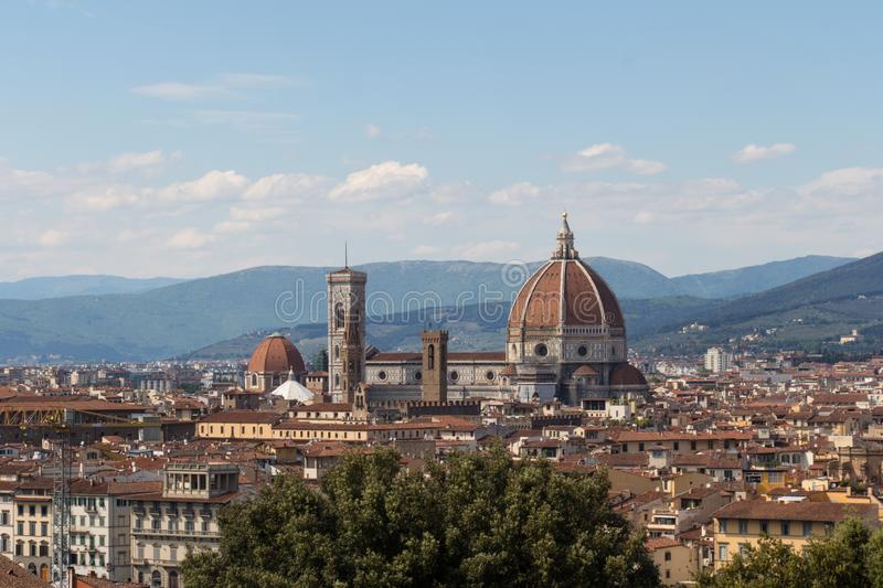 Florence Cathedral in a sunny day, Florence, Tuscany, Italy royalty free stock photo