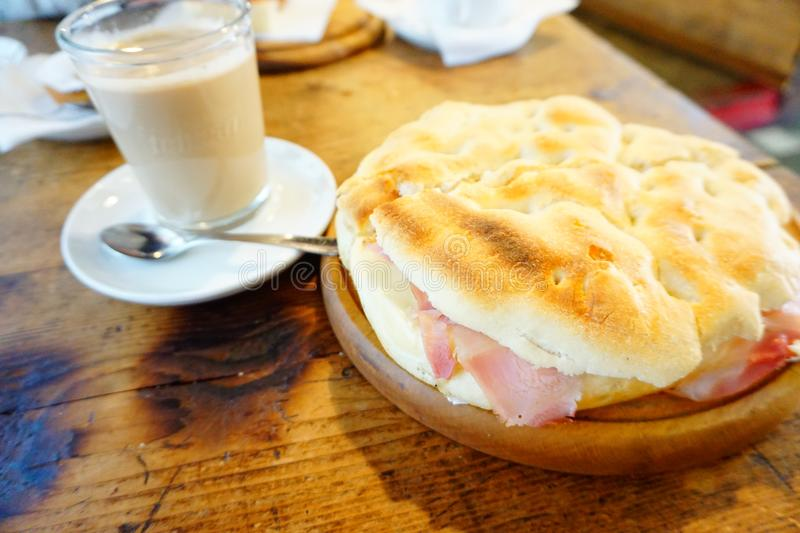 Italy Florence Cafe- coffee and panini royalty free stock photos