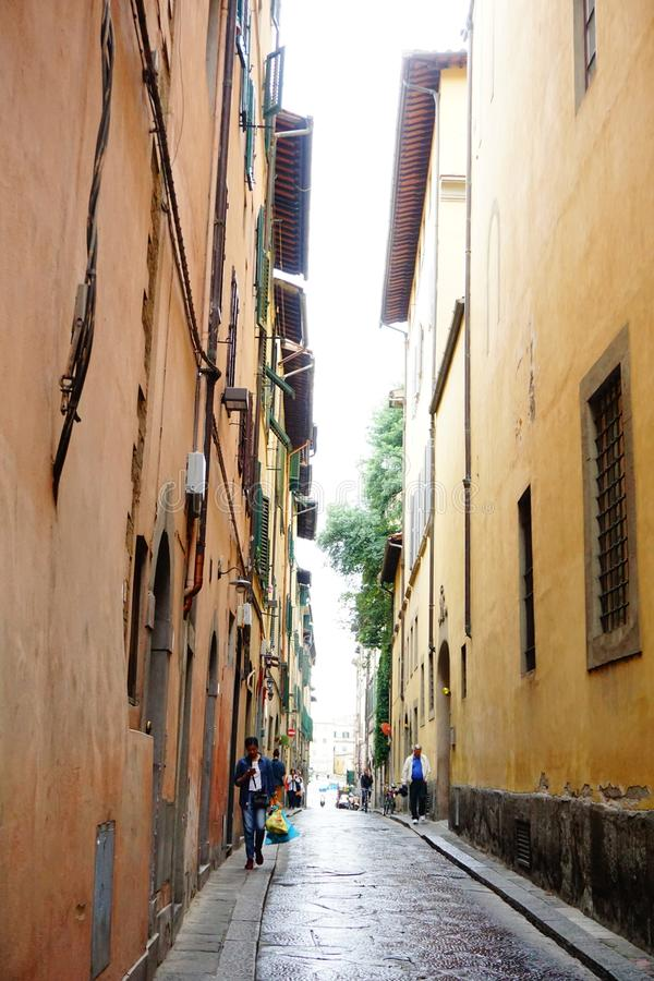 Italy Florence Firenze vintage street view royalty free stock photo