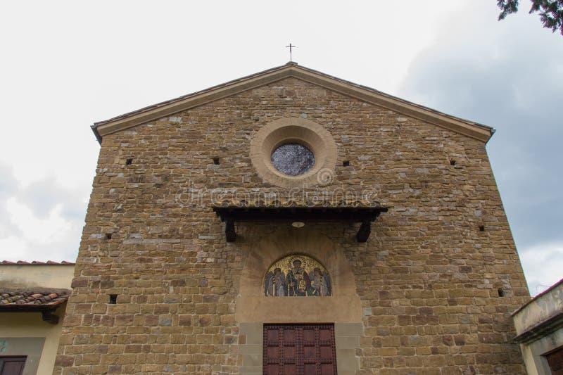 Facade close up of Saint Leonardo in Arcetri Church. Florence, Italy stock images