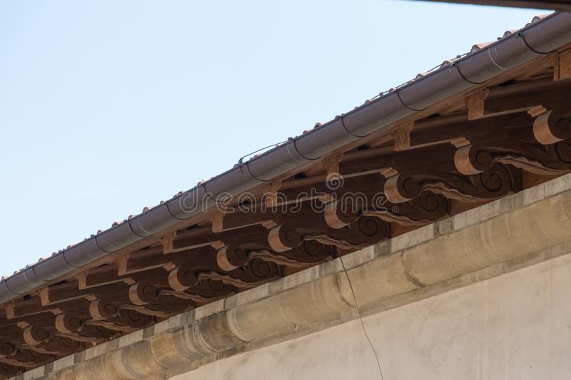 Carved roof fragment, Palazzo Vecchio, Florence, Italy. royalty free stock image