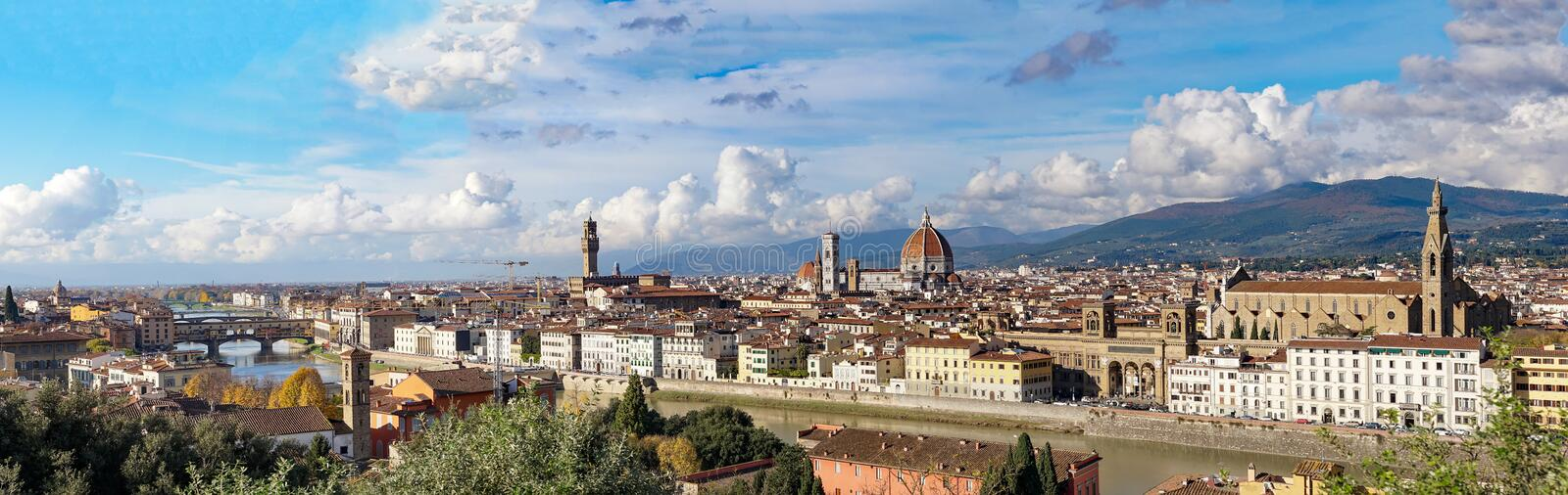 Italy. Florence. Panoramic view from Piazzale Michelangelo. stock image