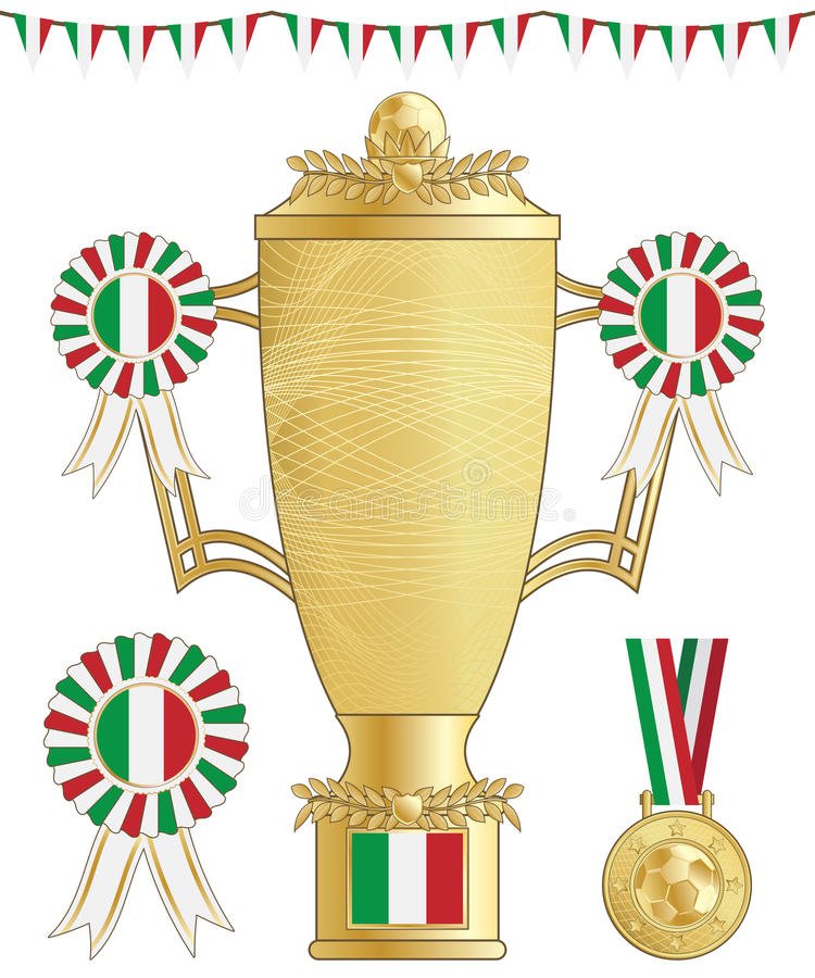 Download Italy football trophy stock vector. Image of vector, banner - 24733155