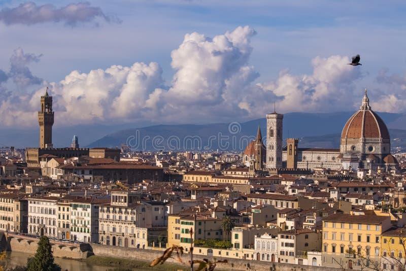 italy Härliga sikter av Florence, domkyrka Santa Maria del Fiore arkivfoto