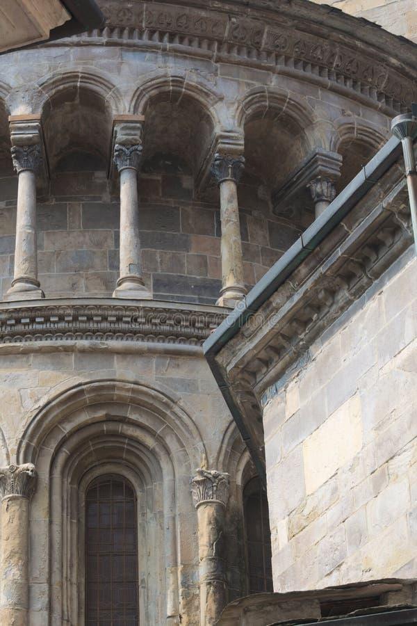 Italy, the historic town of Bergamo. The church of Santa Maria Maggiore. stock photos