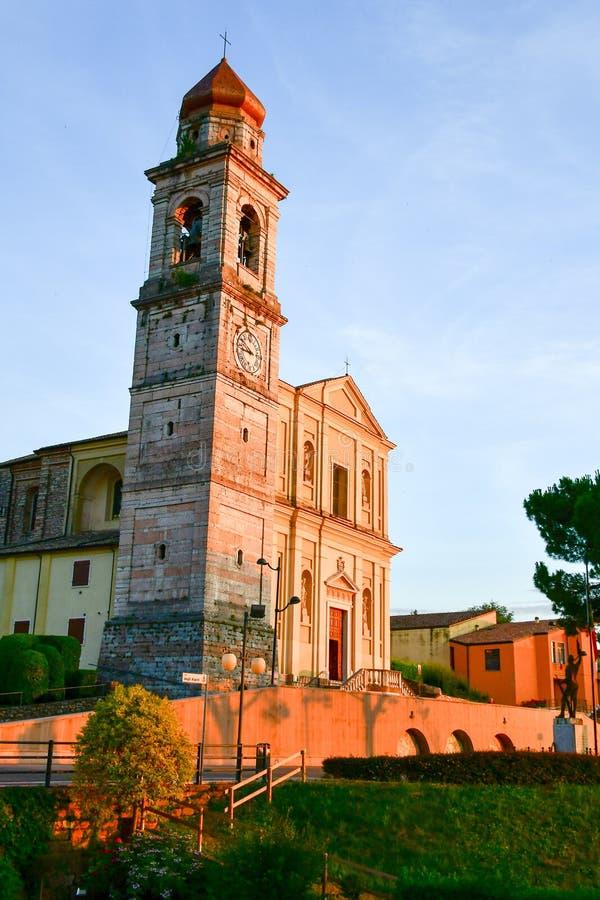 Italy Hurch do ¡ de Ð em San Zeno di Montagna foto de stock royalty free