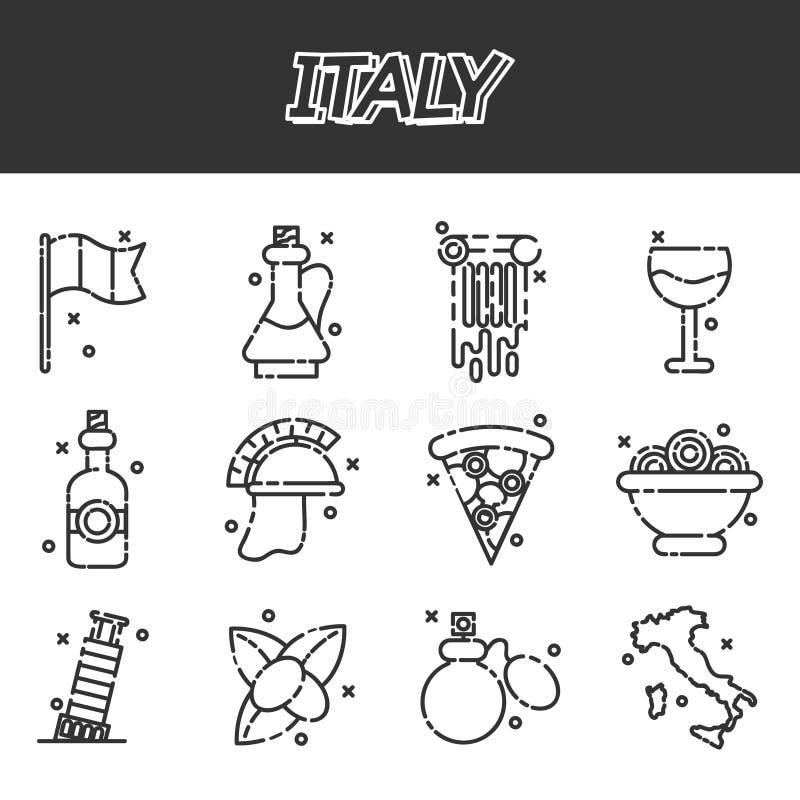Italy icons set royalty free illustration