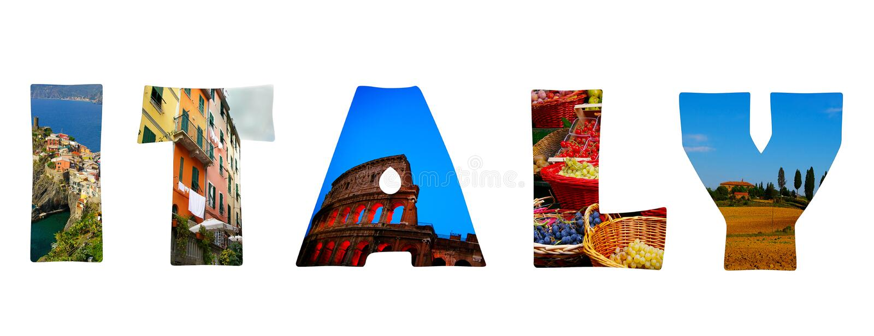 Italy illustration stock image