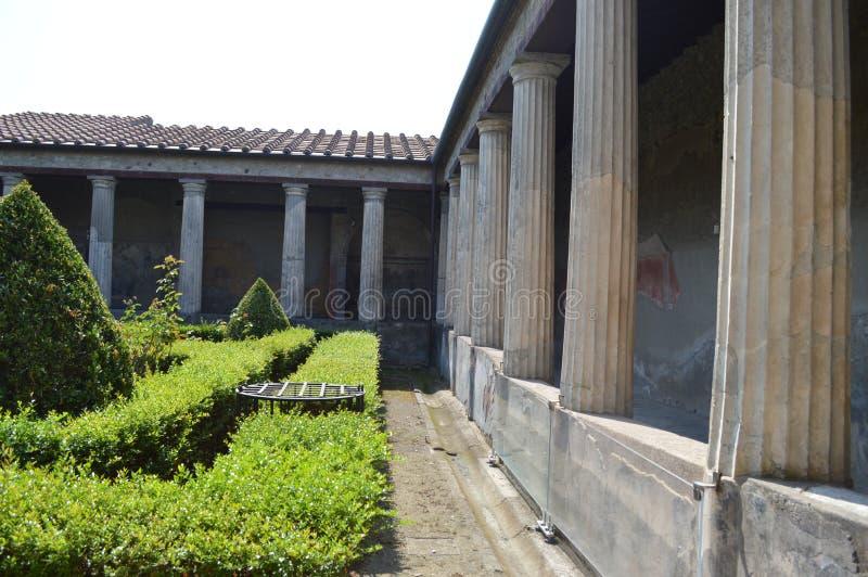 Italy Interior da residência em Pompeii foto de stock