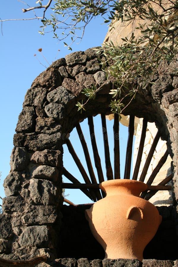 Italy. Ischia Island. An amphora royalty free stock photo