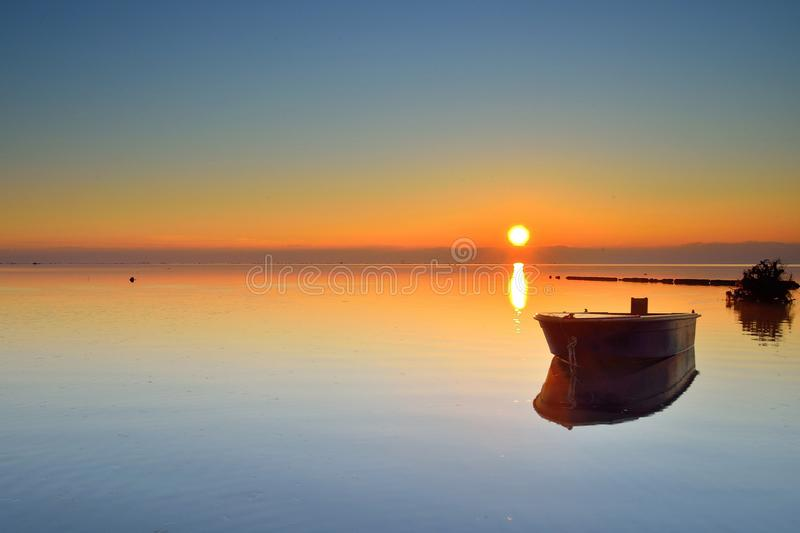 Italy Island of Grado Dawn royalty free stock photo