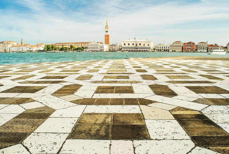 Panorama of Venice, geometry in architecture royalty free stock photos