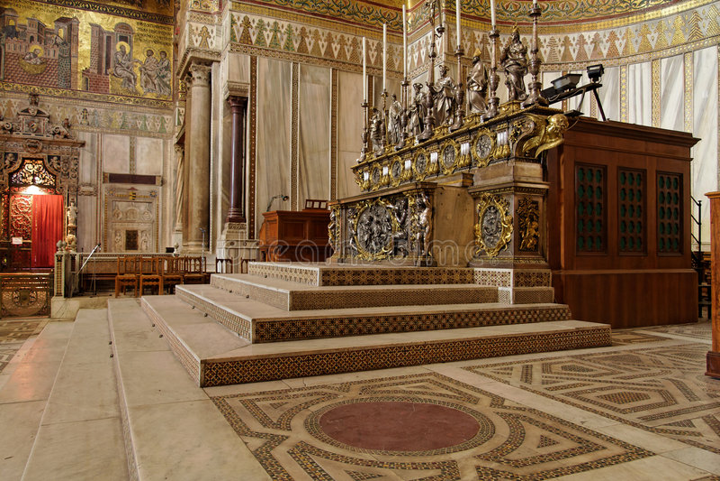 italy katedralny monreale Sicily zdjęcia royalty free