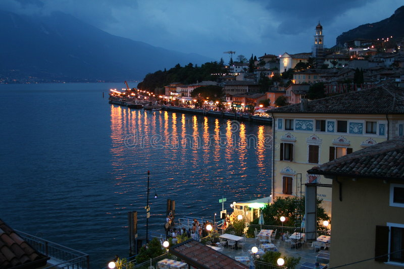 Download Italy. Lake Garda. Limone Sul Garda Town Stock Image - Image: 6034207