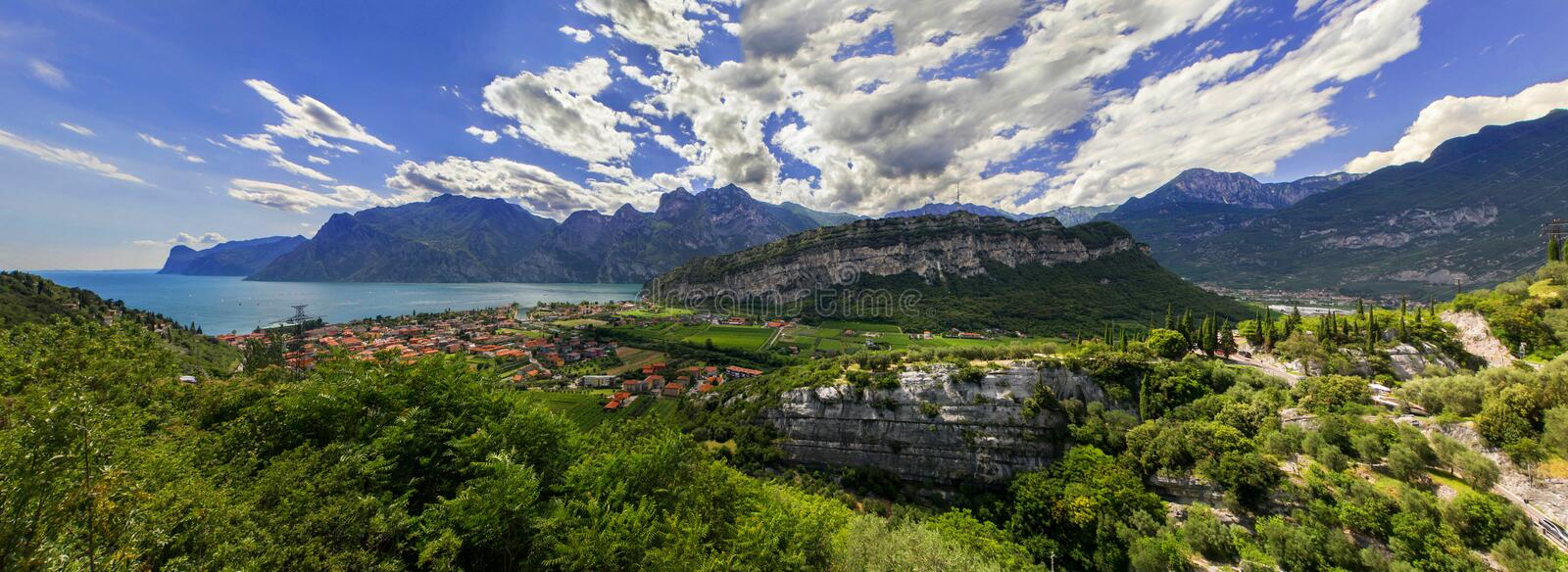 Italy lake and mountains stock photo