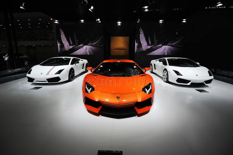 Italy Lamborghini pavilion royalty free stock photos