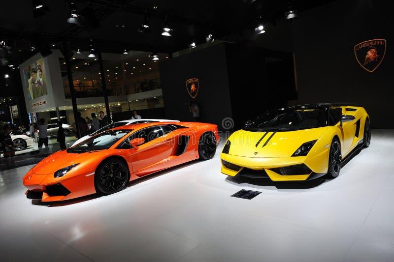 Italy Lamborghini pavilion stock photography