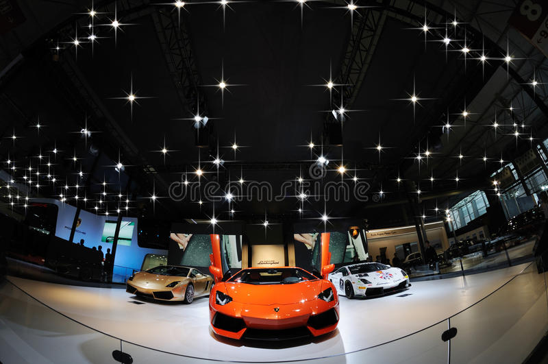 Italy Lamborghini pavilion stock image