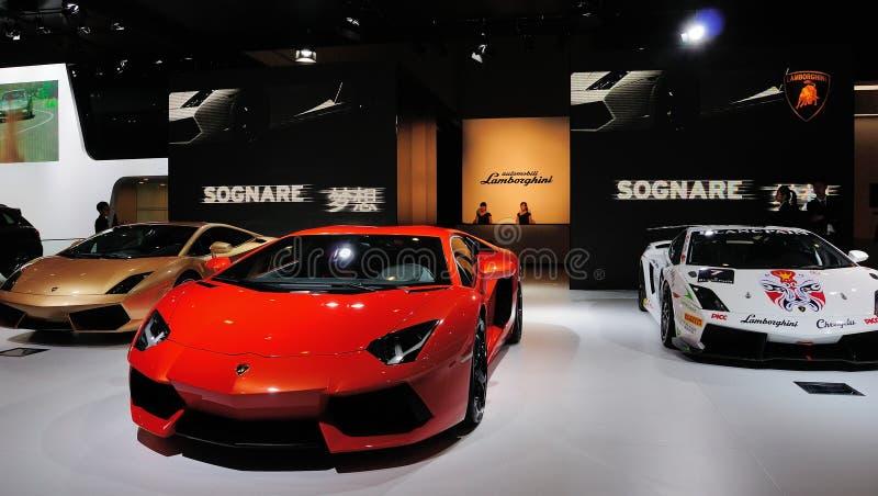 Italy Lamborghini pavilion stock images