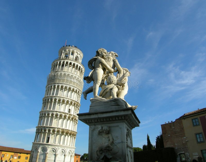 Italy leaning Tower Pisa stock image