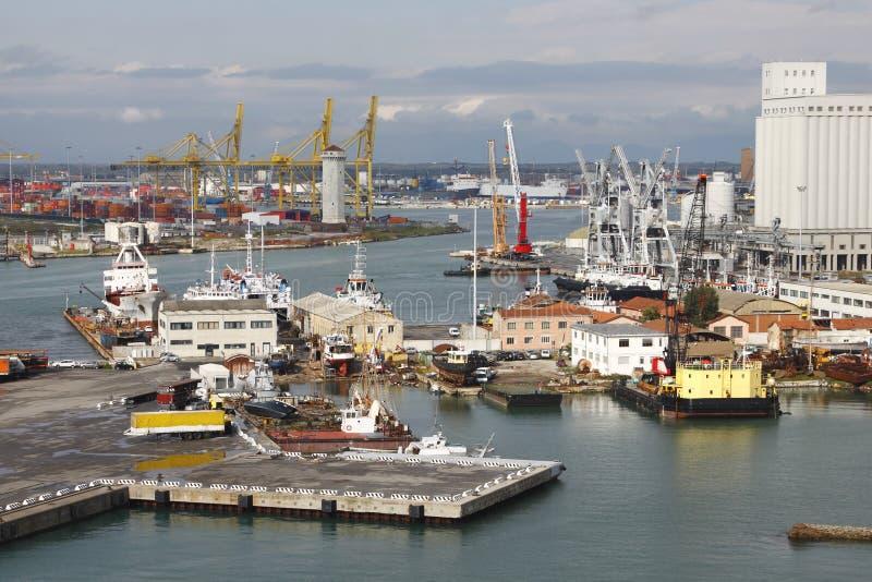 italy livorno port royaltyfri fotografi