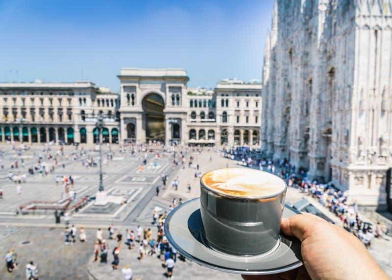Italy, Lombardy Milan Milano Galleria Vittorio Emanuele II Cappuccino royalty free stock image