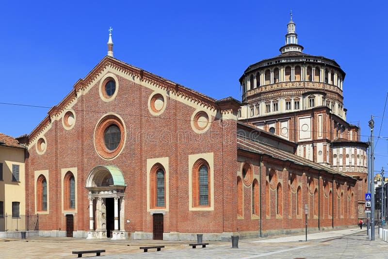 Italy - Lombardy - Milan - the Santa Maria delle Grazie church with the Last supper fresco by Leonardo da Vinci royalty free stock photo