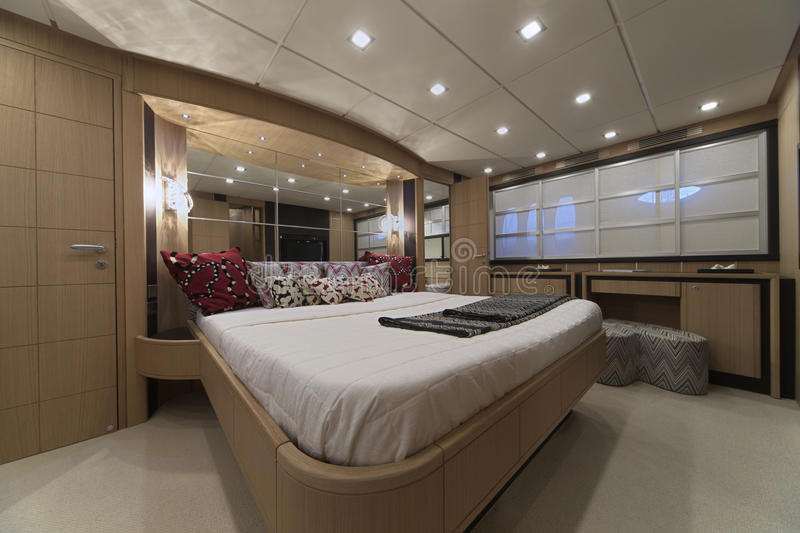 Download Italy Luxury Yacht Master Bedroom Stock Photo